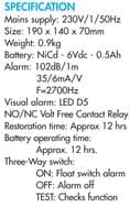 JT High Water Alarm / Battery Backup with Volt free Contacts